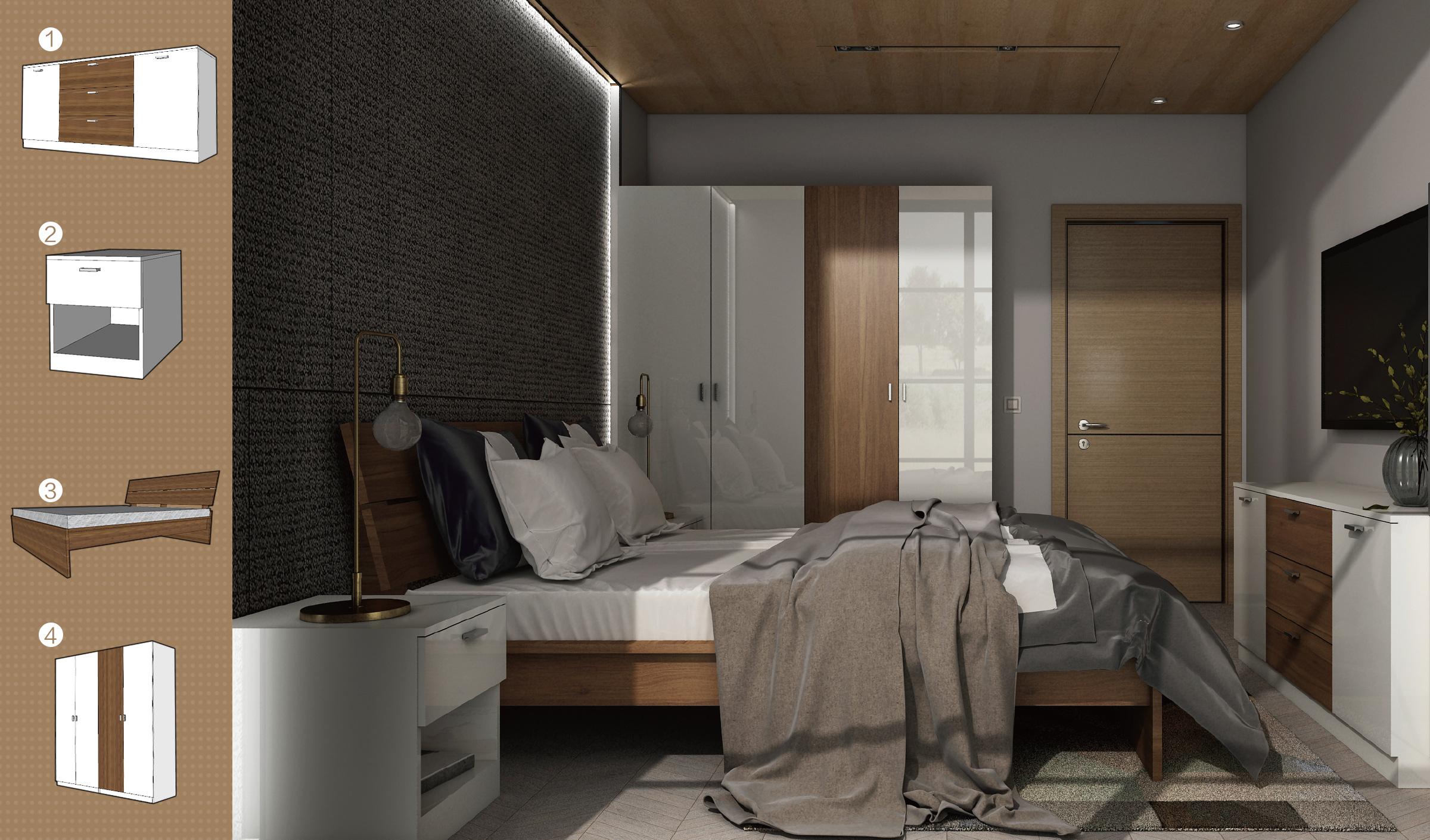 斯德哥尔摩卧室四件套